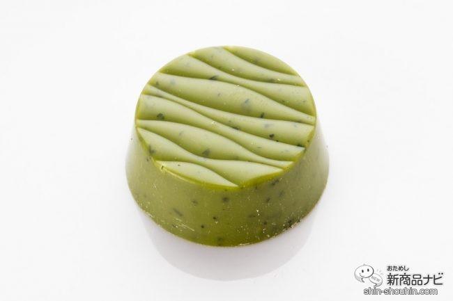 深緑色の抹茶チョコレート