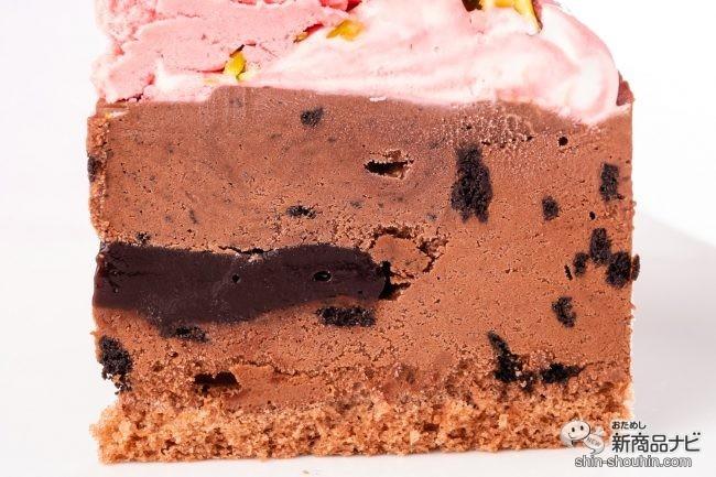 アイスケーキの断面