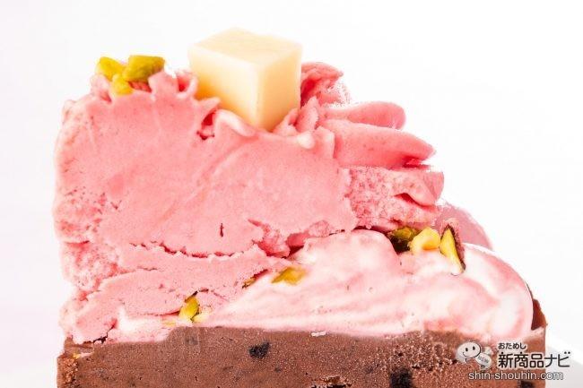 アイスケーキ上部の断面