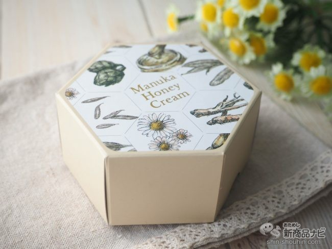 山田養蜂場の『マヌカハニークリーム』のパッケージ箱