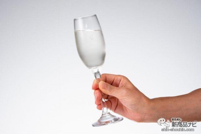 スパークリング日本酒を注いだシャンパングラス