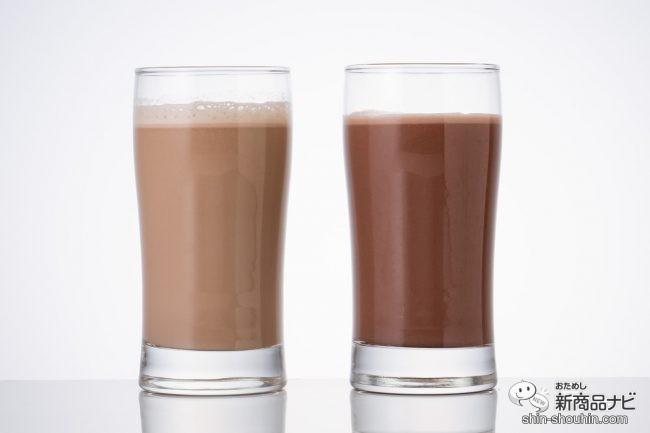 グラスに入れたプロテイン2種