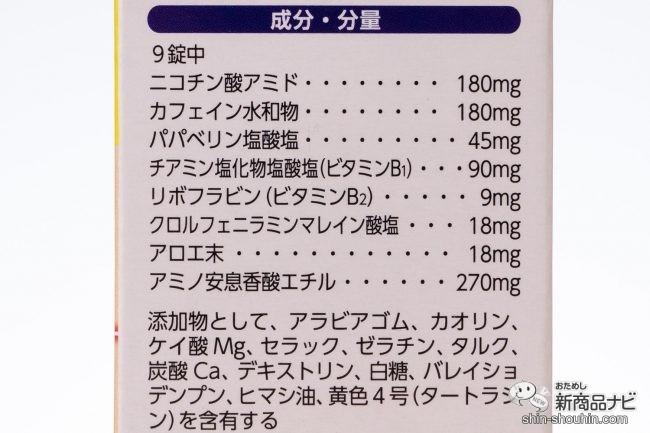 ナリピット錠、成分・分量